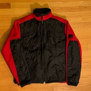 RL Polo Sport USA red black Fleece Jacket sz M